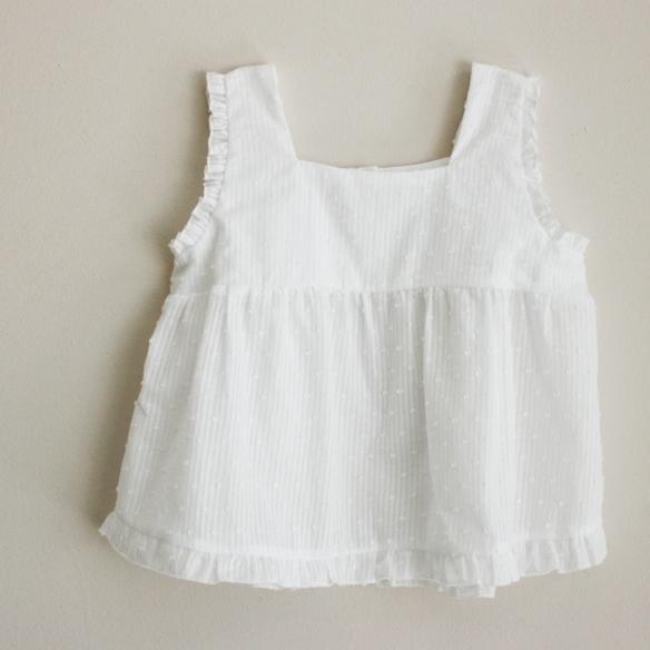 Camisa tirantes plumeti para niña, primavera-verano 2014 Mamitis