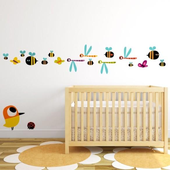 Insectos y pájaros, vinilo infantil de Alla Kinda, en Stickway