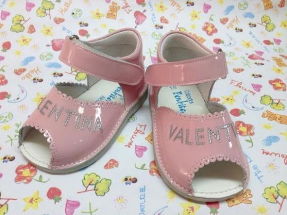 Sandalia niña, zapatos personalizados de Peukito