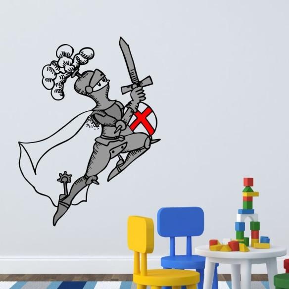 Sant Jordi, vinilo infantil de Pilarín Bayés, en Stickway