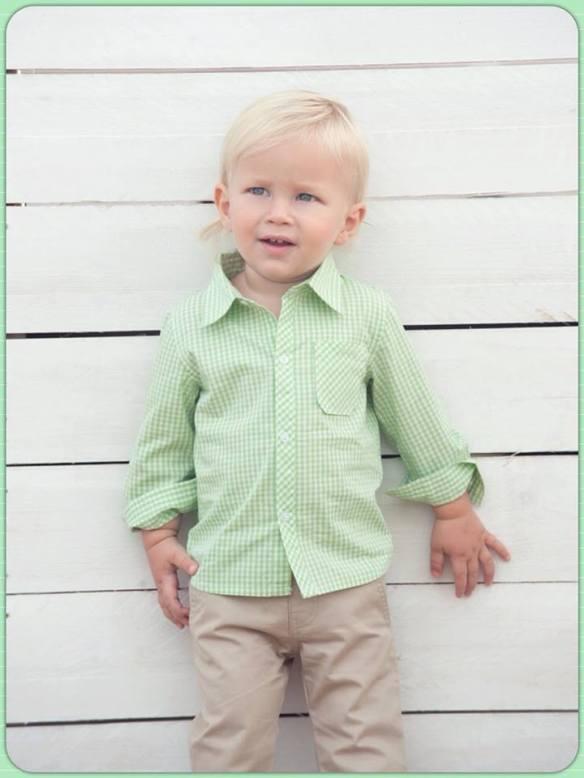 Camisa y pantalón para niño primavera-verano 2014 Bolitas de Algodón