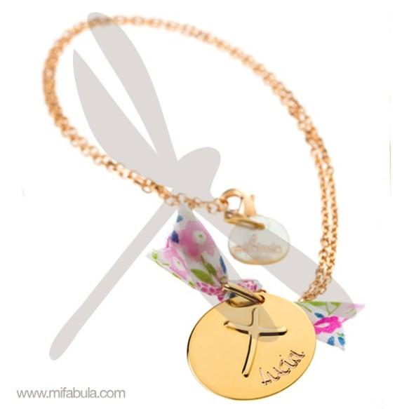 Collar cadena medalla La cruz de Anna, Mifabula, joya para la Primera Comunión