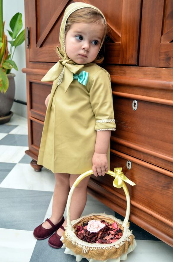 Vestido camel niña, Micaela Micaelo primavera-verano 2014