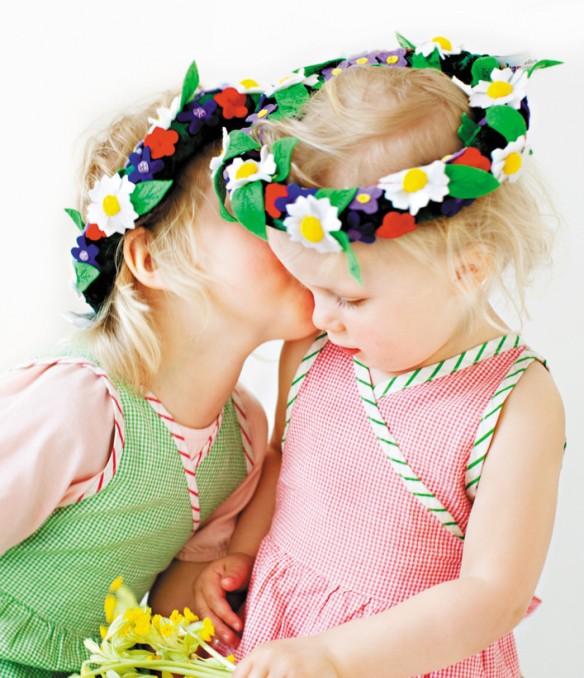 Corona de flores para niños de Oscar&Ellen en Babymims