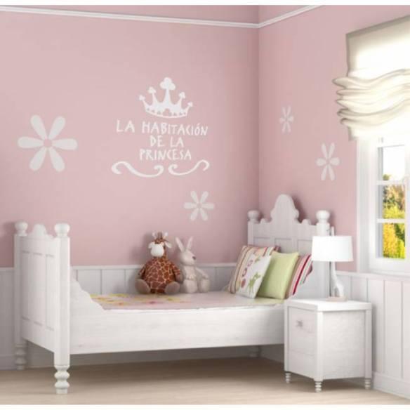 La habitación de la princesa, vinilo de Pilarín Bayés en Stickway