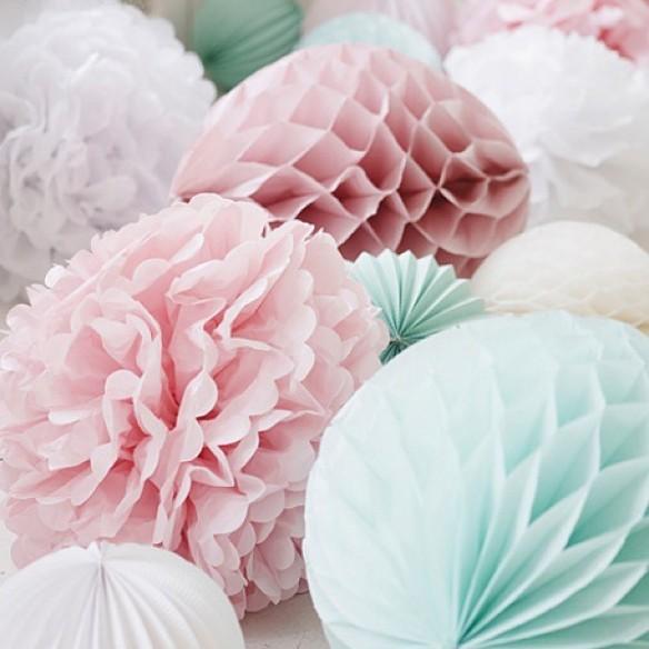 Bolas de papel para fiestas infantiles, en Pretty Surprise